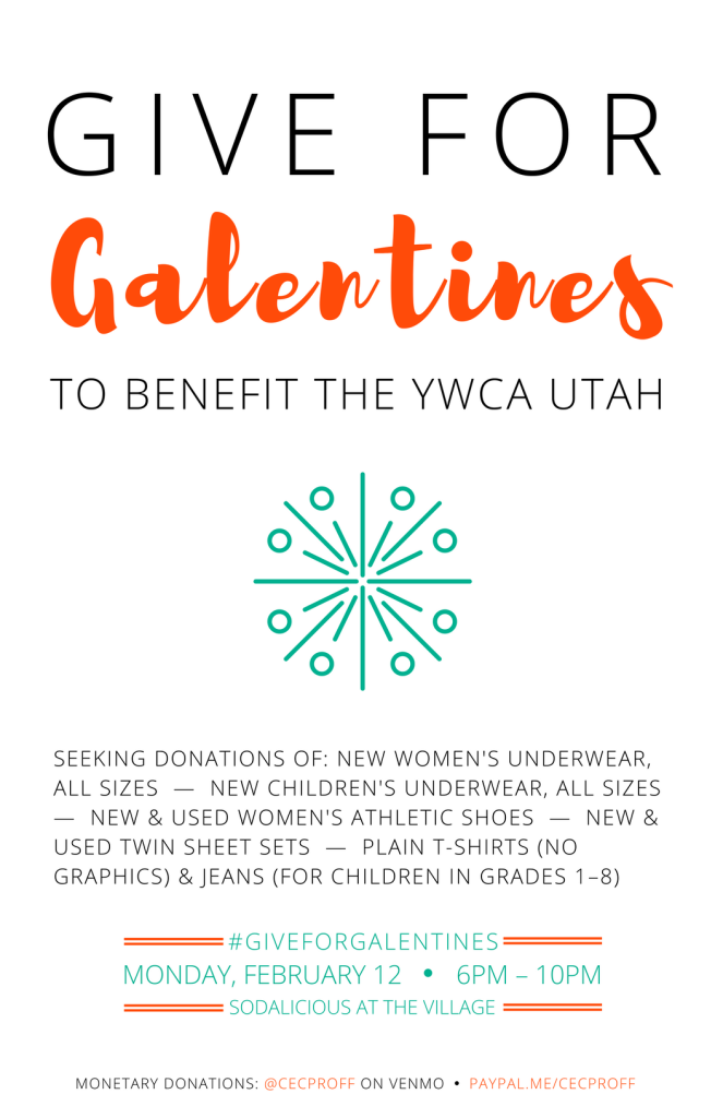 Give for Galentines 11x17 poster