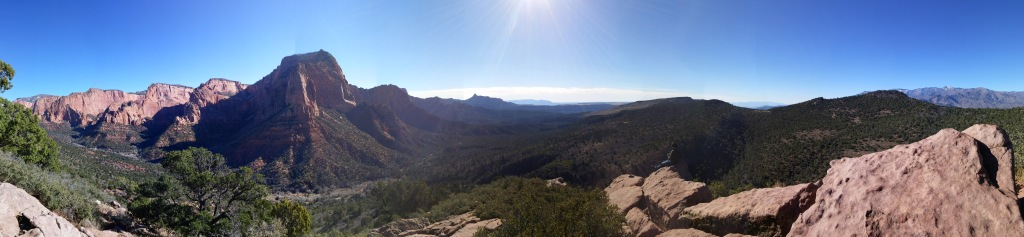 The view at the end of Timber Creek Overlook Trail in Kolob Canyons, part of Zion National Park