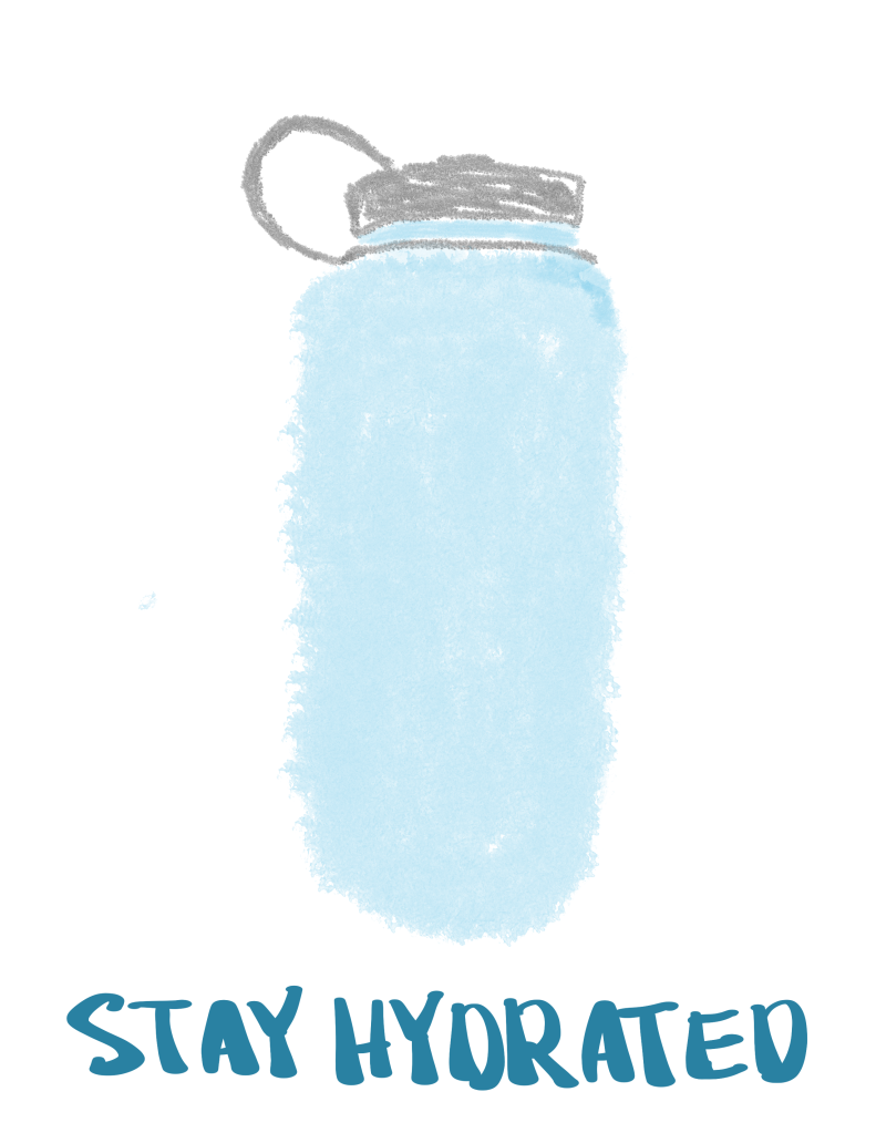 Stay hydrated water bottle poster