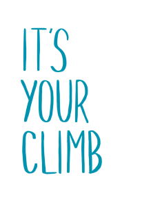 It's your climb
